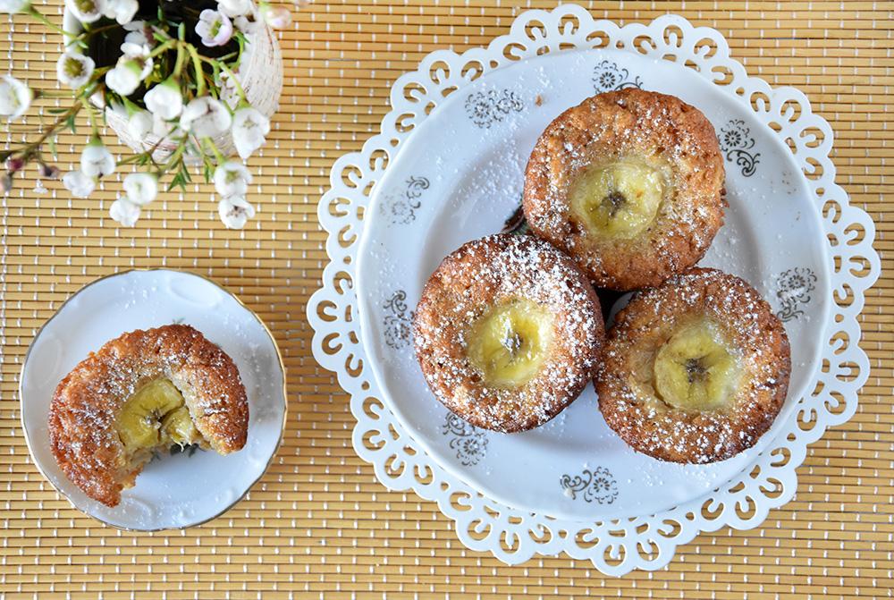 מאפינס גזר ותפוחים עם בננות