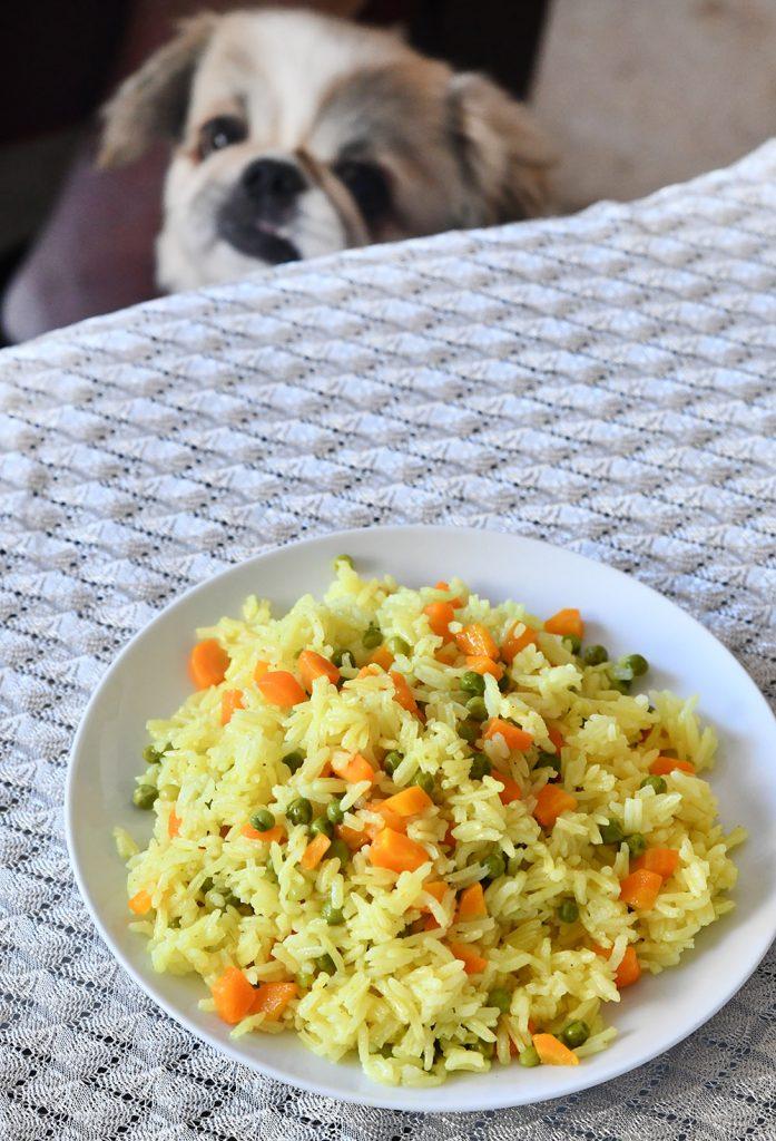 אורז עם גזר ואפונה עם טעם של ילדות