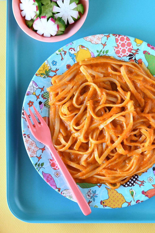 פסטה ברוטב עגבניות וגזר